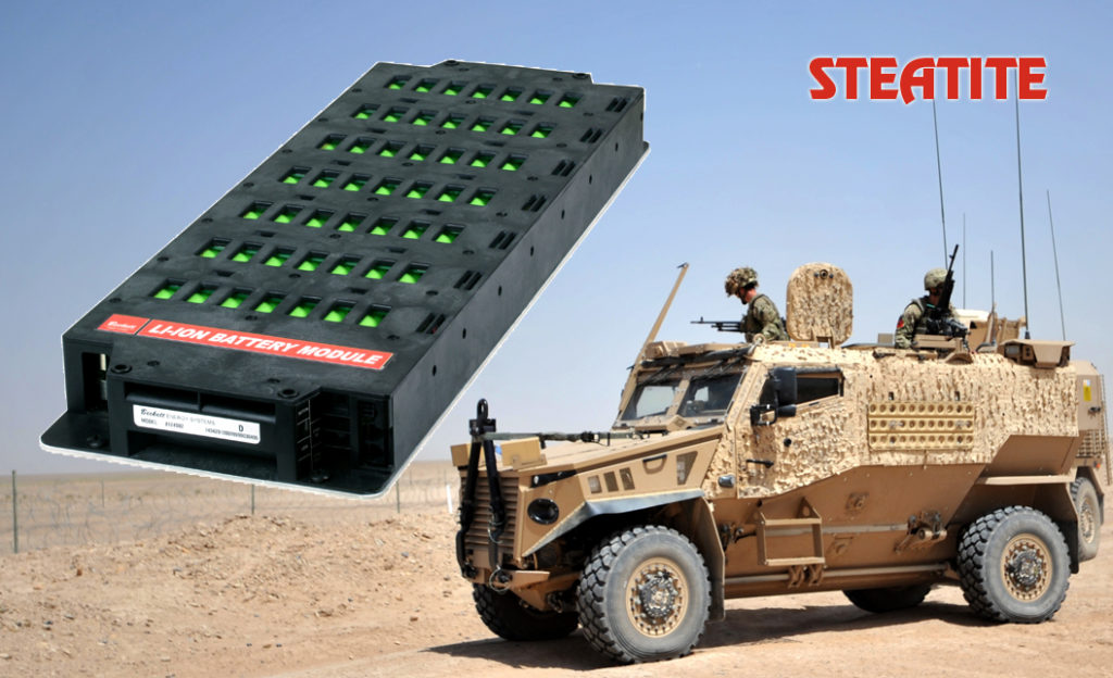 rechargeable battery pack module for military vehicles