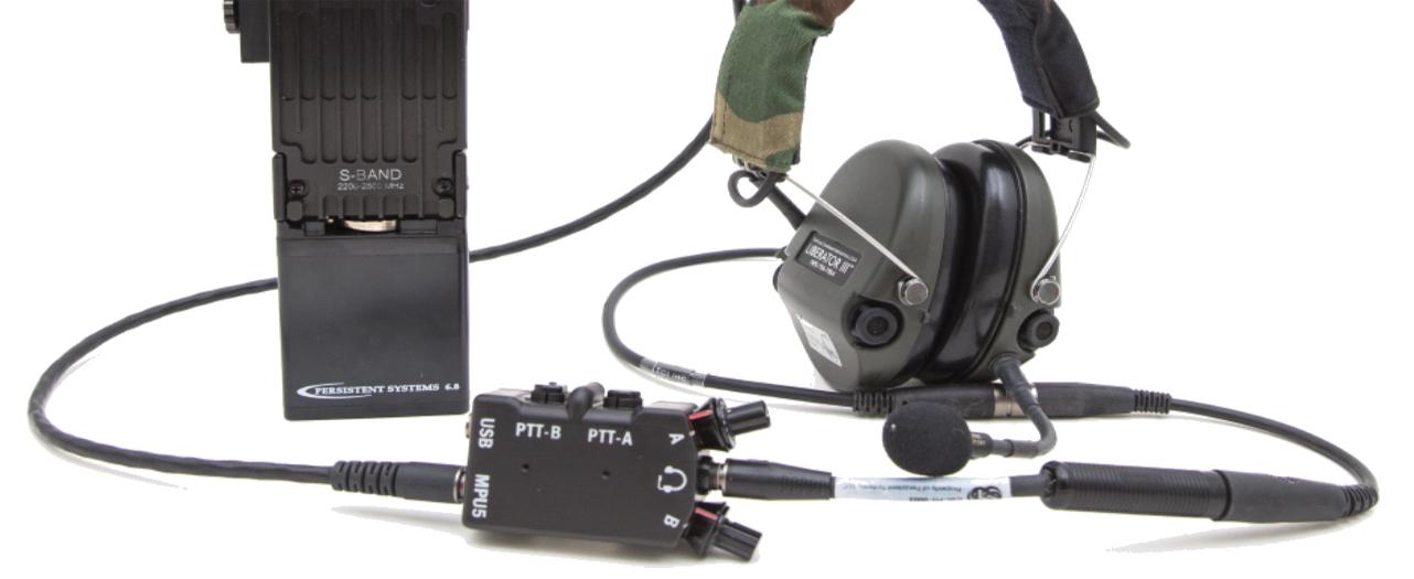 Dual PTT for MPU5 MANET radio